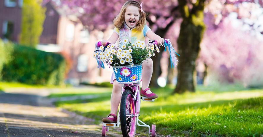 Barncykel med stödhjul